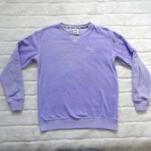 Victoria's Secret Pink Velour Sweatshirt Purple XS